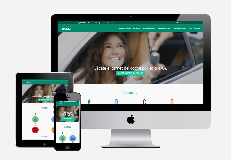 pagina-web-autoescuela-lineal-albacete